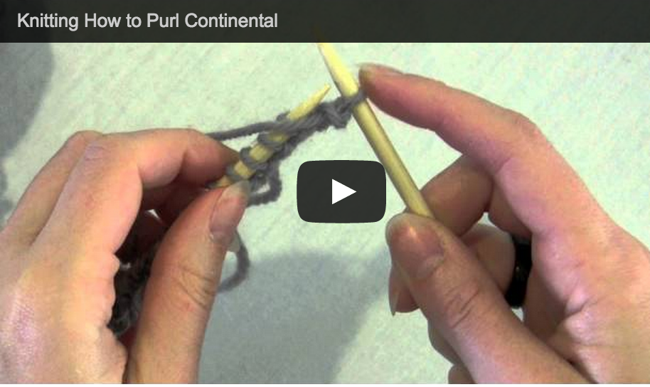 Knit Purl English Continental Knitting Video Tutorials by Astraknots - Astrak...