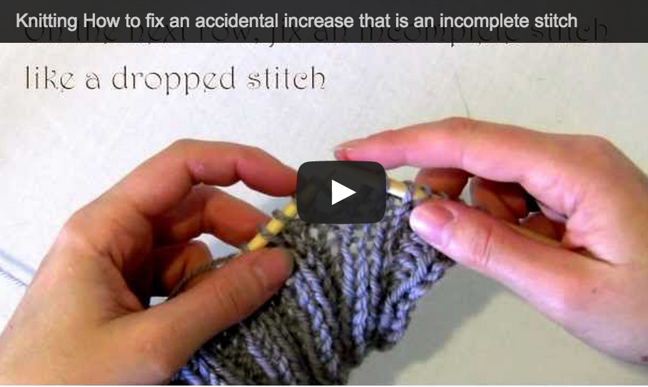 How To Increase Stitches In Knitting Continental : Knitting Help by Astraknots - Astraknots