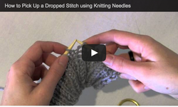 pick up dropped st knitting