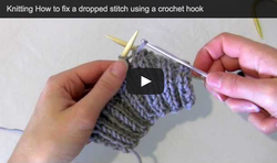 fix dropped st crochet hook
