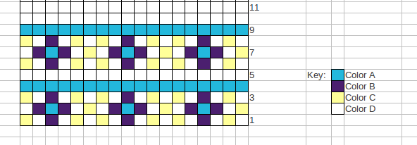 color knitting chart example
